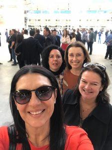 Da esquerda para direita: Arq. Maria Aparecida Cury Figueiredo, Arq. Maria Andrea Triana Montes, Arq. Tatiana Filomeno e Arq. Elaine Castro